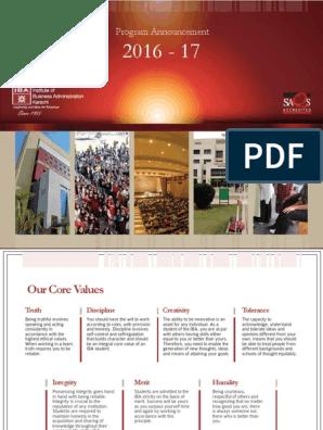 IBA program-announcement-05082016 pdf | Academic Degree