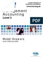 Management Accounting Level 3/Series 3 2008 (Code 3023)