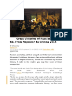 Five Great Victories of Russian Geopolitik, From Napoleon to Crimea 2014