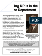 IKECA - 2012 - Analysizing KPIs in Your Service Department (PDF Handout)