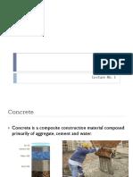 Lecture 1 Concrete Technology