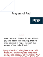 Paul's Prayer Class 4