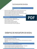 Exemple de Indicatori de Mediu