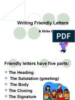Writing Informal Letter