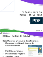 Oquma - 5 Pasos Para Su Manual de Calidad