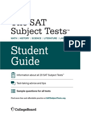 sat-subject-tests-student-guide pdf   Sat   Test (Assessment)