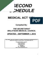 Second Schedule - Updated 20160901