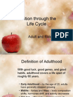 Adult and Elderly Nutrition