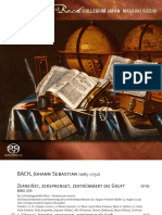 Bach collegium Japan, Academic Cantatas vol.4 [Booklet]