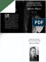 Alberto Pilone Meditaciones de Un Escultor