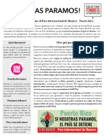 Boletín - ¡Nosotras Paramos! #8M  #ParoDeMujeresPR