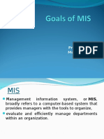 Goals of MIS