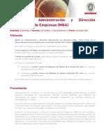 Master en Administracion y Direccion Internacional de Empresas MBA 2132