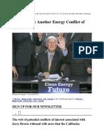 Jerry Brown's  Violation of 18 U.S.C. 1346