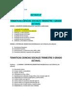 Temáticas Ciencias Sociales Plan de Estudio 8 y 9