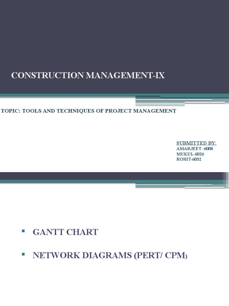Tools And Techniques Of Project Management Mukul Rohit Amarjeet