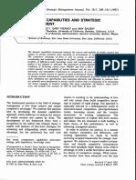 Teece, D. J., G. Pisano, & a. Shuen, (1997) 'Dynamic Capabilities and Strategic Management', Strategic Management Journal, 18(7) Pp. 509-533.