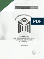 Propuesta de Plan de Implementacia n de Plataforma Atencia n Al u