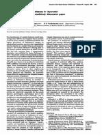Treatment of Parkinson's Disease in Ayurveda