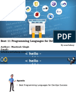 11 Programming Language for Devops Success