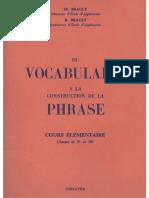 Brault, Du Vocabulaire à la construction de phrases, Cours Élémentaire