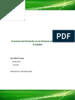 El Proceso de Formación en Los Sistemas de Gestión de Calidad