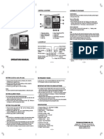Tecsun PL 118 Englsih Manual