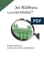 Miljogranskning - Hållbart universitet
