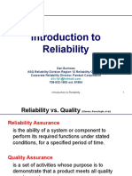 Introduction to Reliability