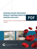 National Blood Authority - 2013 - National Blood and Blood Product Wastage Reduction