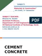 Class 9 Cement Concrete 1