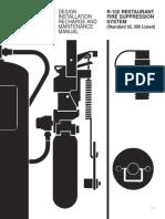 R-102 Restaurant Fire Supression System (Estandar UL-300 Listed)