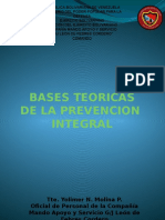 Bases Teoricas de La Prevención Integral