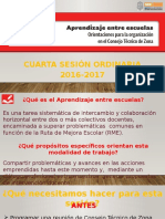 Presentación Aprendizaje Entre Escuelas 16-17