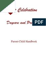 celebration daycare and preschool handbook