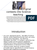 Introducing Aboriginal Contexts Into Science Teaching