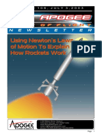 Using Newton's Law of Motion to Explain How Rocket Work
