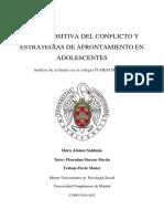 Vision Positiva Del Conflicto y Estrategias de Afrontamiento en Adolescente