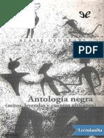 Antologia Negra - Blaise Cendrars