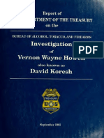 Report of the Department of the Treasury on the Bureau of Alcohol, Tobacco, and Firearms investigation of Vernon Wayne Howell also known as David Koresh