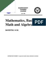 Mathematics, Basic Math _ Algebra - NAVEDTRA.compressed