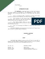 Affidavit of Loss-06.22.2007