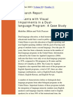Students with Visual Impairments in a Duallanguage Program