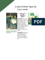 Máquina Para Extraer Agua de Coco Verde