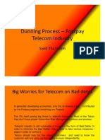 Dunning Process –Telecom by Syed Thameem