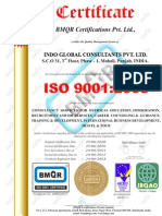 Indo Global ISO Certificate