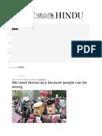 Why We Need Democracy