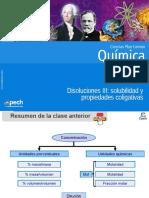 Clase 16 Disoluciones III solubilidad y propiedades coligativas 2016.ppt