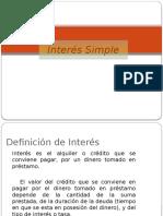 Interés Simple Presentacion
