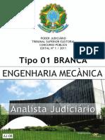Tse - Analista Judiciário - Engenharia Mecânica - Tipo 1 - Branca